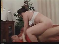 Cock hungry aged slut is passionately jumping on lover`s boner.