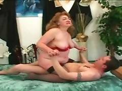 Turned on guy thoroughly drills cock hungry granny.