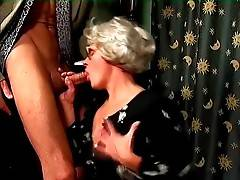Cute cock hungry aged whore skillfully works her mouth.