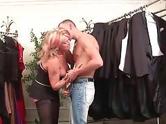 Slutty Granny Joanna Depp Seduces Tough Guy 1