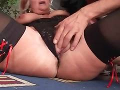 Slutty Granny Joanna Depp Seduces Tough Guy 3